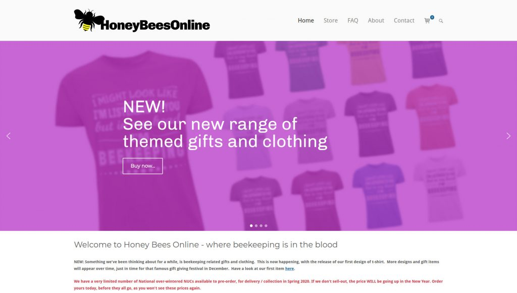 Honey Bees Online by Brighton WebTech