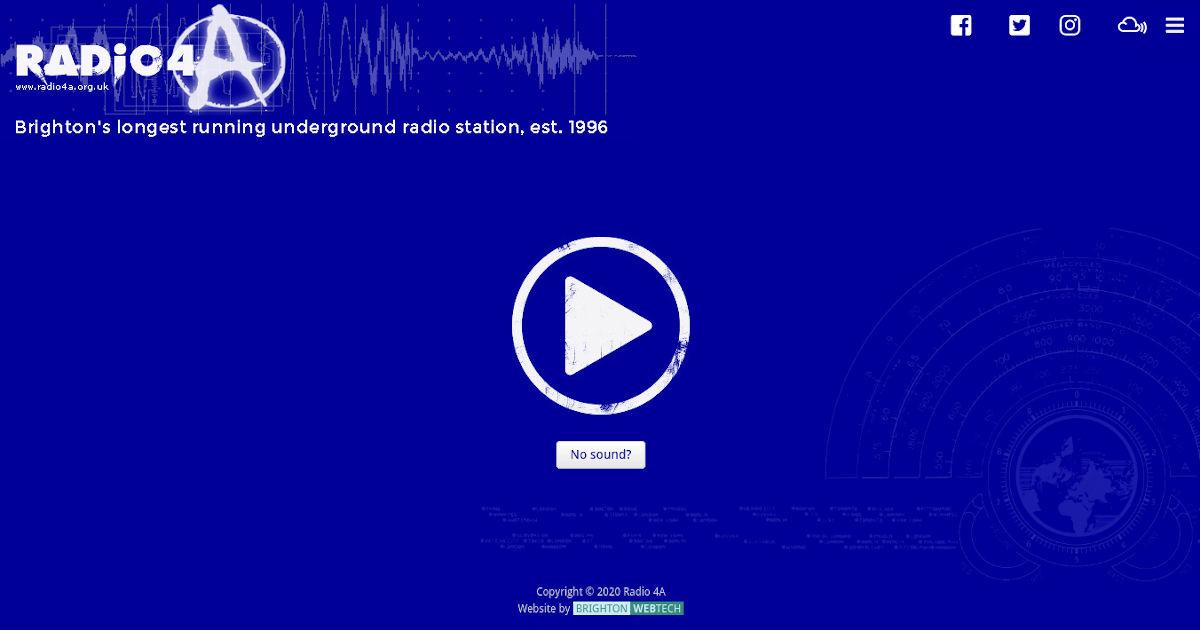 Portfolio image for Radio 4A - A website by Brighton WebTech