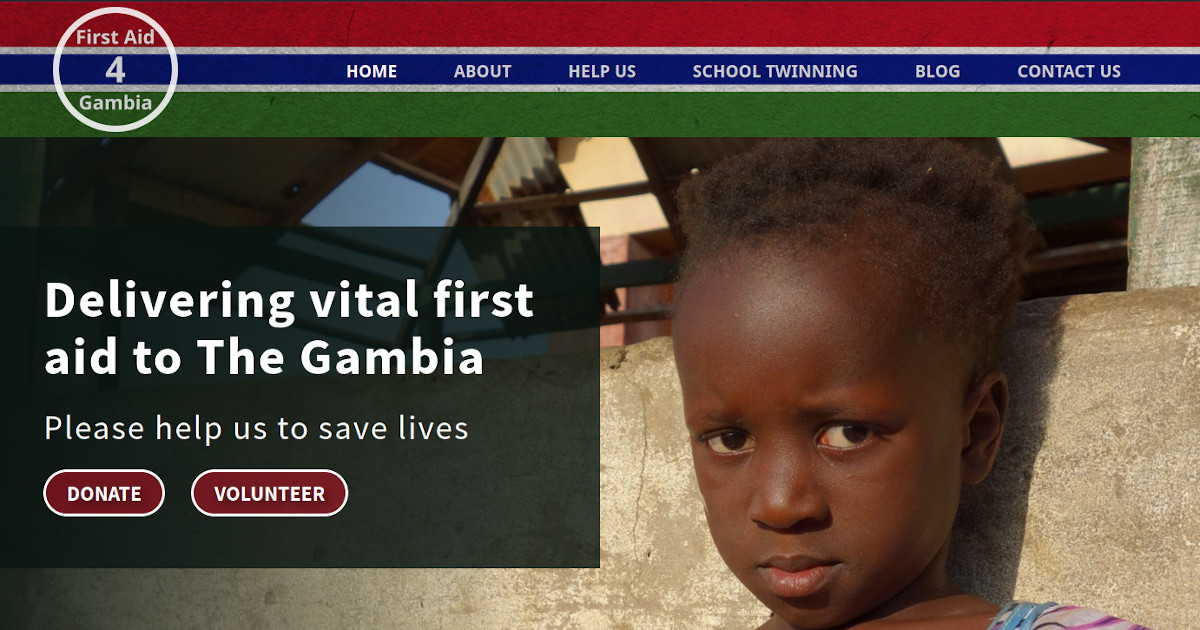 Portfolio image for FirstAid4Gambia - Another website by Brighton WebTech